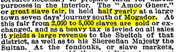 Great Slave Markets in Morocco